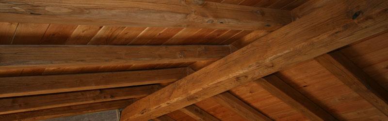 travature tetti in legno travi a vista